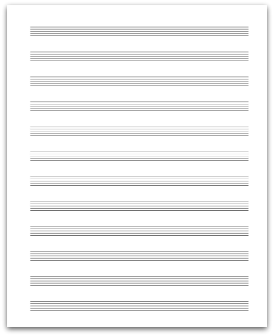 image about Printable Staff Paper With Bar Lines identified as Employees Paper - All More than Audio